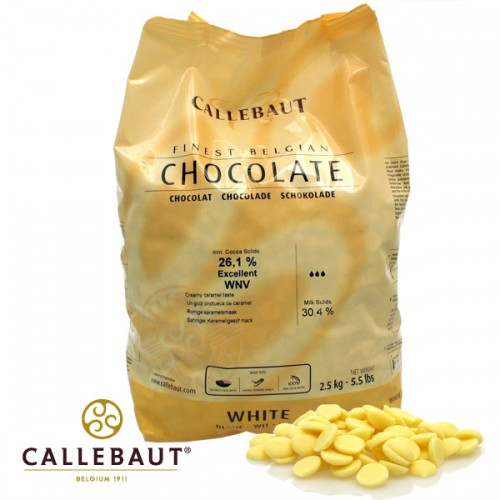 Barry Callebaut Callets Weiße Kuvertüre Excellent W2